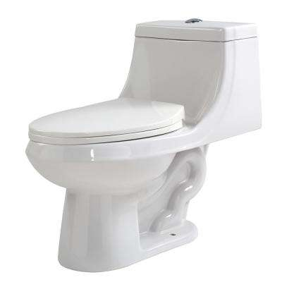Odin 1-Piece 1.28 GPF Dual Flush Elongated Toilet in White