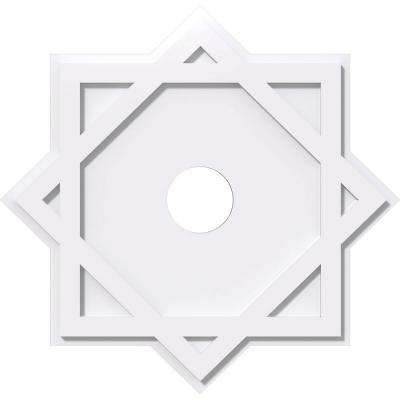 30 in. OD x 5 in. ID x 1 in. P Axel Architectural Grade PVC Contemporary Ceiling Medallion