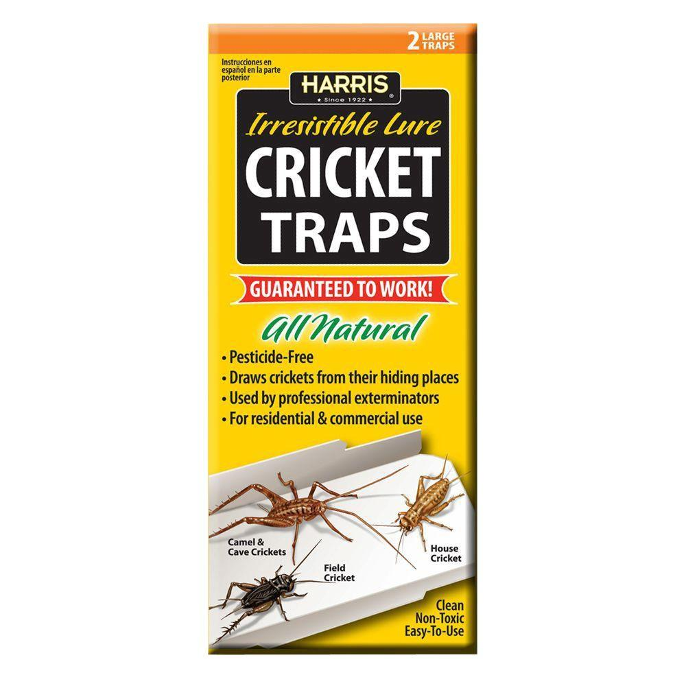 Harris Cricket Traps with 25 Irresistible Lures (2-Pack)