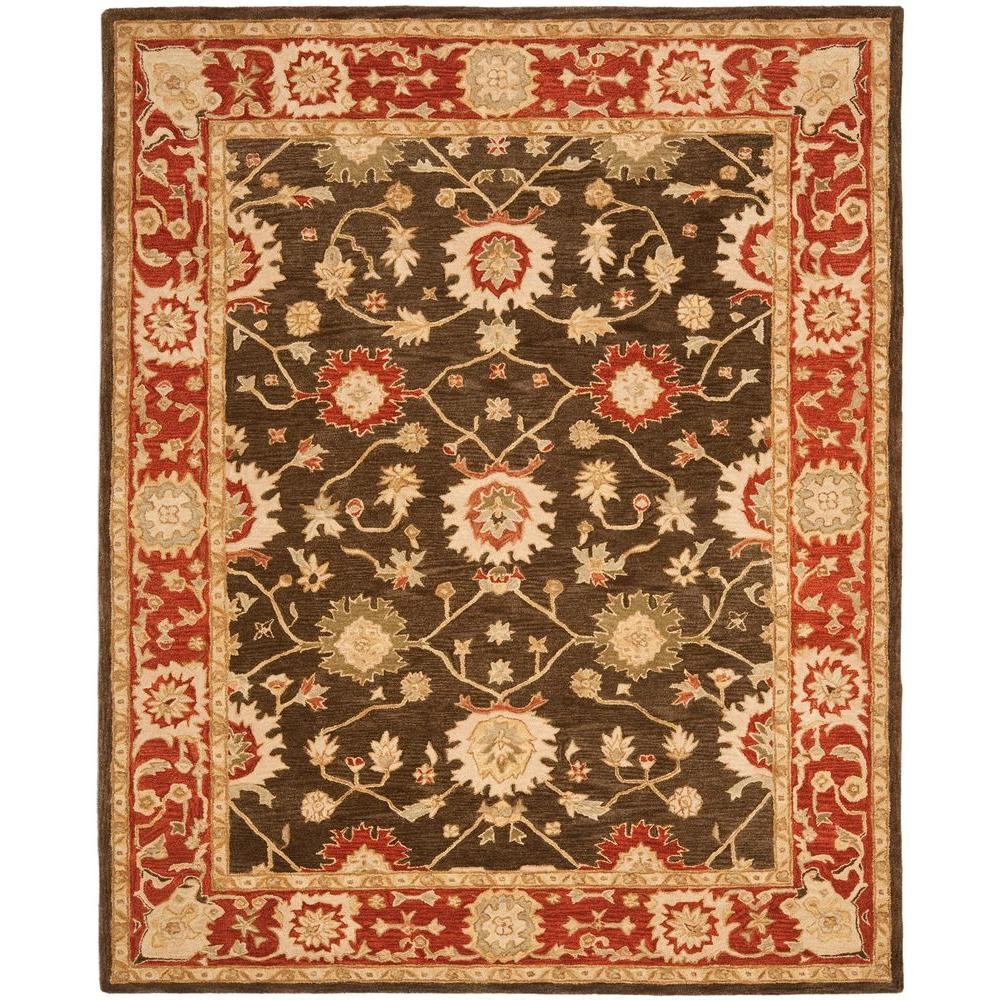Safavieh Anatolia Olive/Rust 9 ft. 6 in. x 13 ft. 6 in. Area Rug