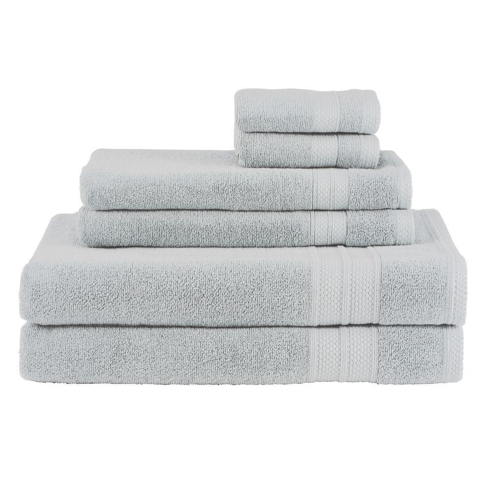 Solid 6-Piece Glacier Towel Set