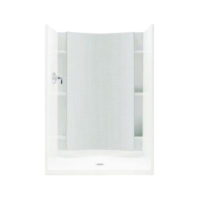 Accord 1-1/4 in. x 42 in. x 77 in. 1-piece Direct-to-Stud Shower Back Wall in White
