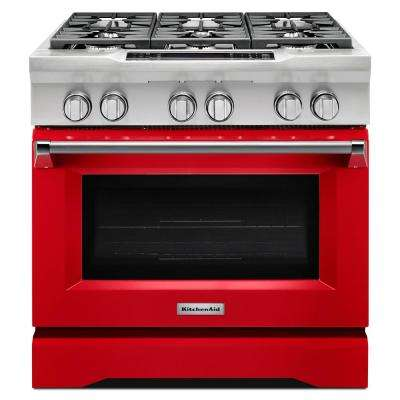 5.1 cu. ft. Dual Fuel Range with Convection Oven in Signature Red