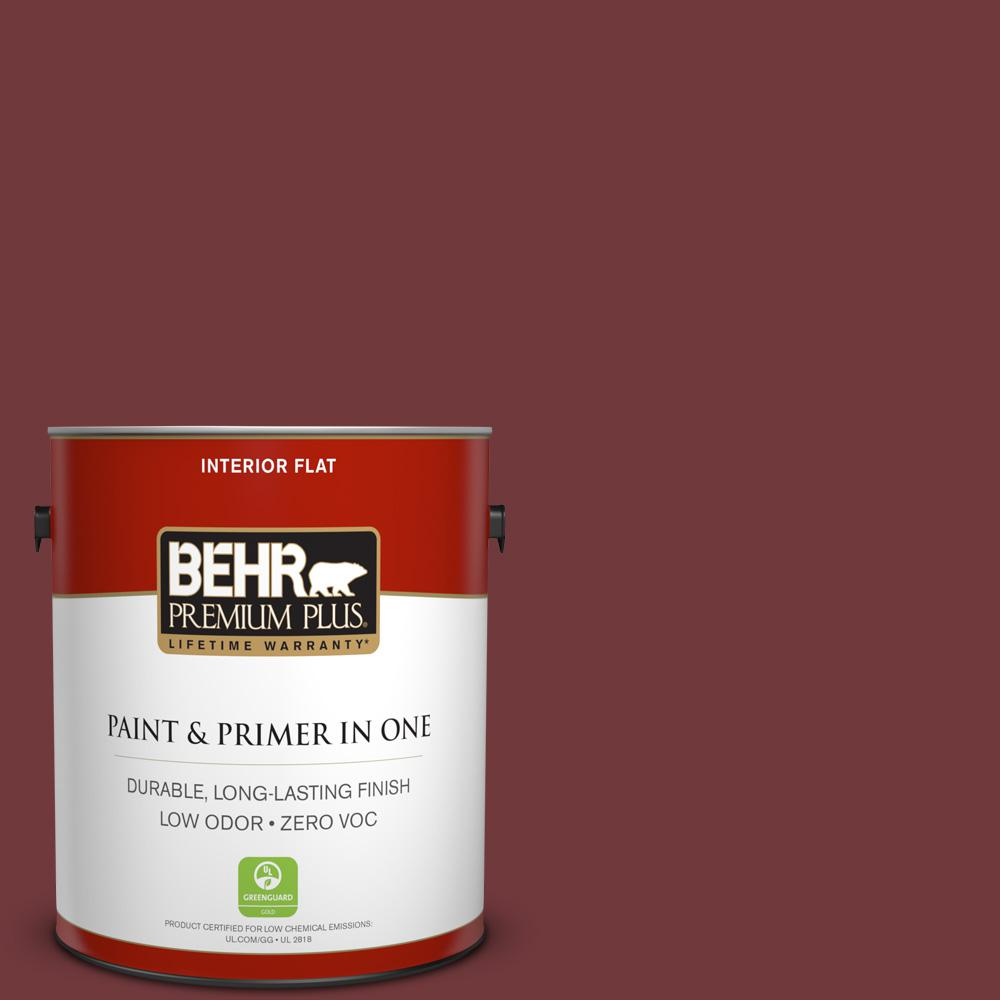 BEHR Premium Plus 1-gal. #160F-7 Burnished Mahogany Zero VOC Flat Interior Paint