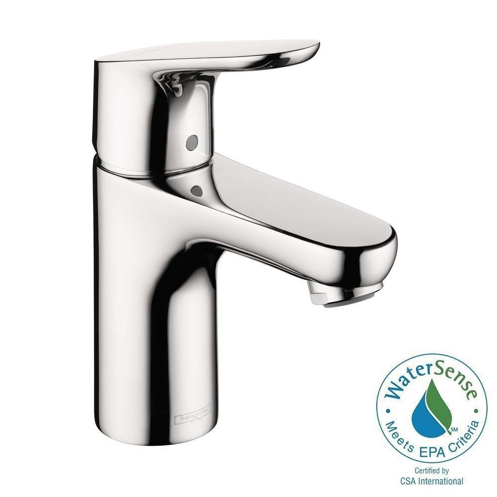 Hansgrohe Focus 100 Single Hole 1-Handle Low-Arc Bathroom Faucet in Chrome