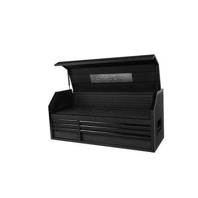 52 in. 6-Drawer Top Chest in Textured Black