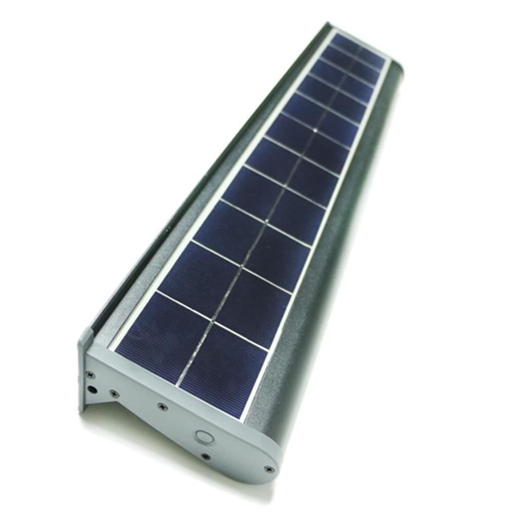 Led Wall Pack Flood Light: ELEDing Solar Powered 10-Watt Gray Outdoor Integrated LED