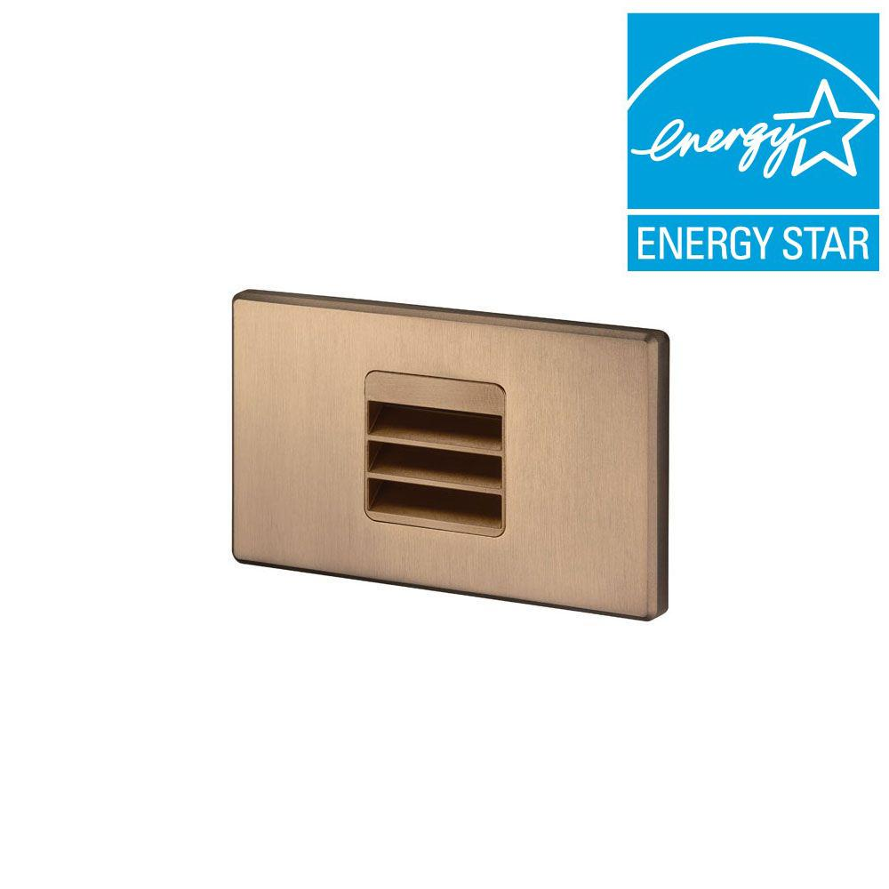 Juno 1.875 in. Bronze Recessed LED Louver Mini Step Light with 3000K  sc 1 st  The Home Depot & Juno 1.875 in. Bronze Recessed LED Louver Mini Step Light with ... azcodes.com
