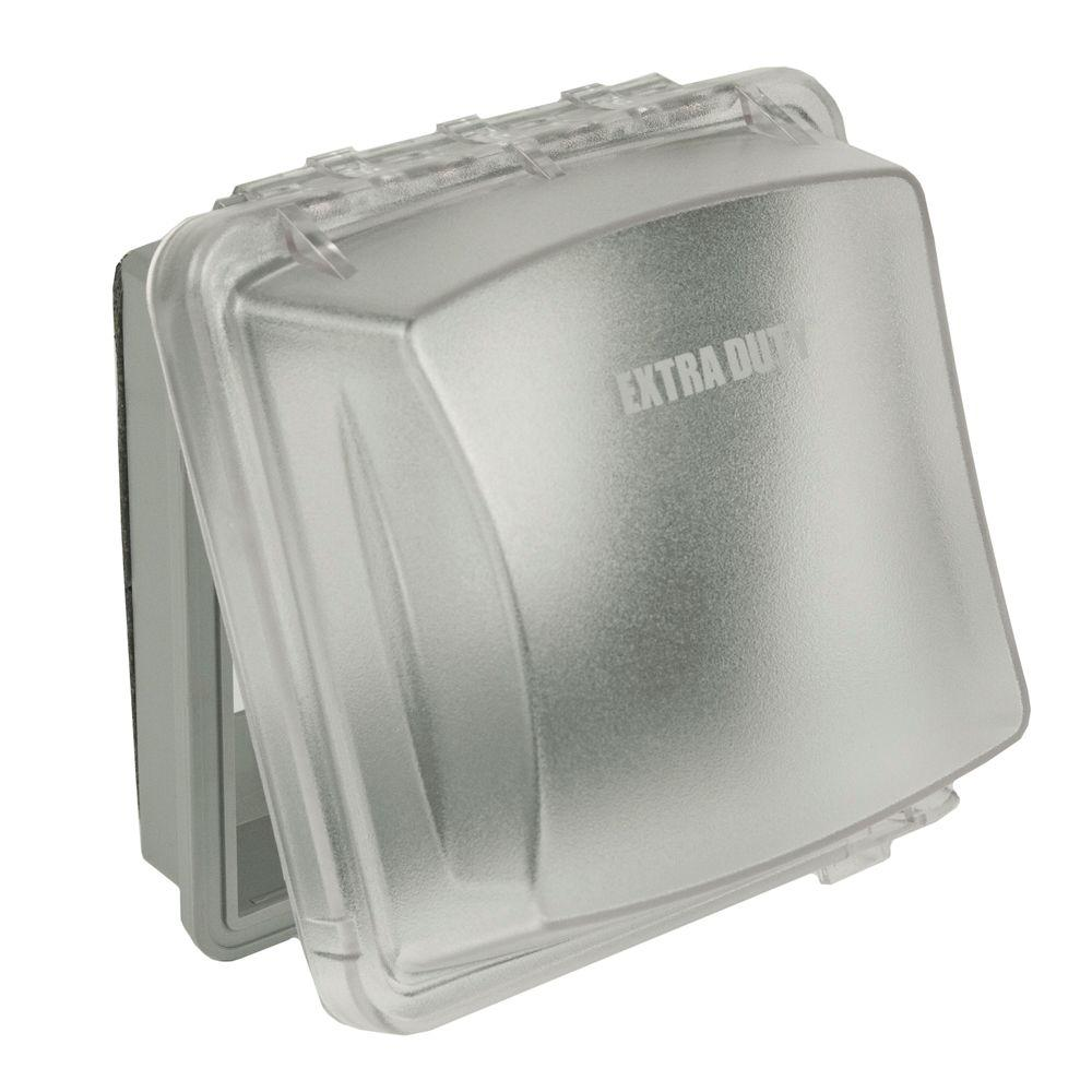 TAYMAC 2-Gang Weatherproof Extra Duty In-Use Clear Cover