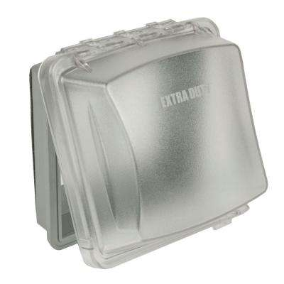 2-Gang Weatherproof Extra Duty In-Use Clear Cover