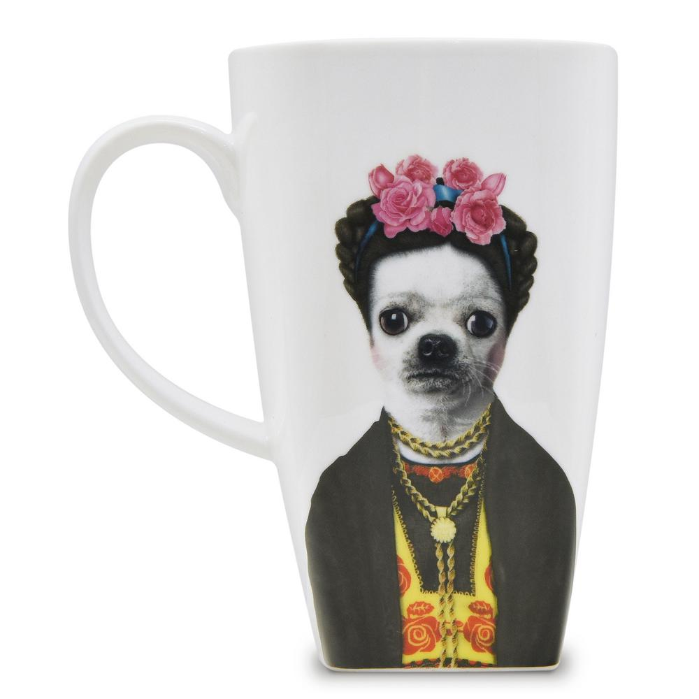 20 oz.  Mexico  Pets Rock Collectible Fine Bone China Mug, Mexico These Pets Rock fine bone china coffee mugs give you the option to see the adorable pets you love dressed as celebrities on your mugs. Available with a variety of furry creatures to fit any animal lovers desires. What better way to start your morning than with a cup of Joe and your adorable Pets Rock buddy. The porcelain is milky white in color, beautiful in shape and comfortable in your hand. Color: Mexico.