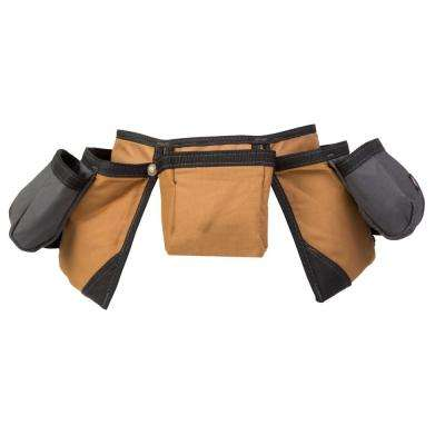 11-Pocket Construction Tool Belt Pouch Apron, Tan