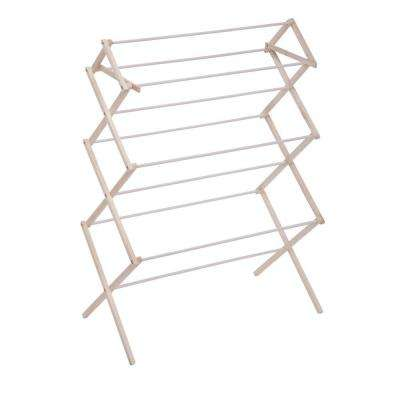 Large Wood Knockdown Drying Rack