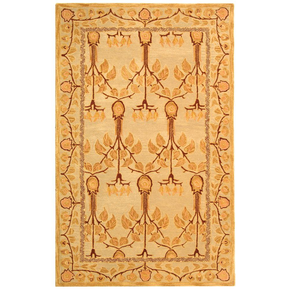 Anatolia Ivory/Gold 6 ft. x 9 ft. Area Rug
