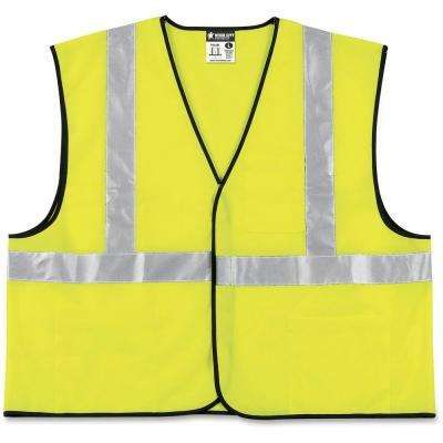 Crews ANSI Class II XX-Large Size Lime Green/Silver Safety Vest