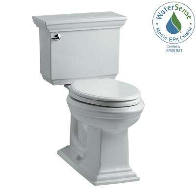 Memoirs Stately 2-piece 1.28 GPF Single Flush Elongated Toilet with AquaPiston Flush Technology in Ice Grey