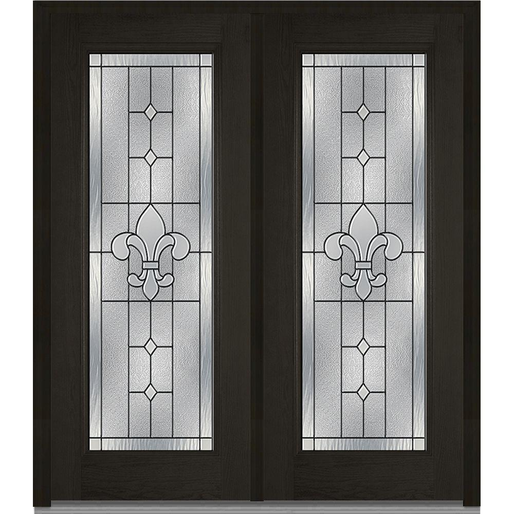 64 in. x 80 in. Carrollton Right-Hand Inswing Full Lite Decorative