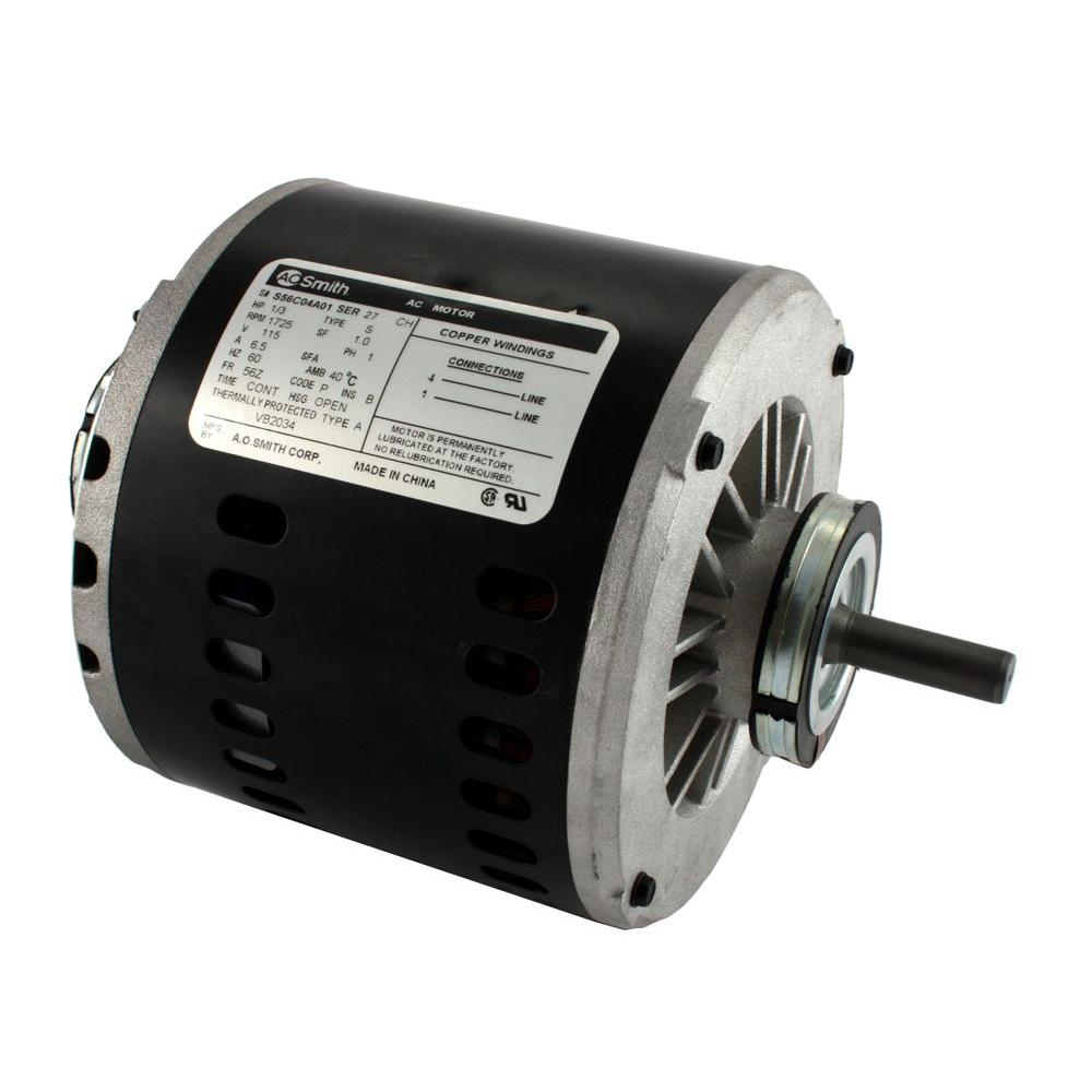 Century 3 4 Hp Blower Motor Dl1076 The Home Depot Ac Wiring 1 115 Volt Evaporative Cooler Single Speed