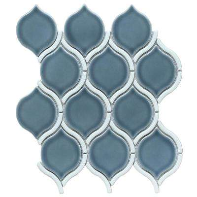 Divine Chronos Glossy 10.47 in. x 11.73 in. x 8mm Ceramic Mesh-Mounted Mosaic Tile