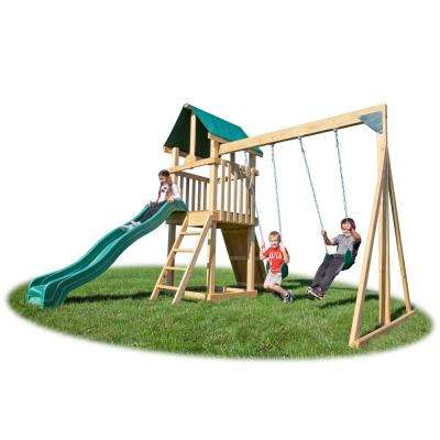 Backyard Hideout Pine Wood Playset