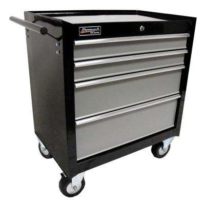 SE Series 27 in. 4-Drawer Rolling Cabinet Black and Gray