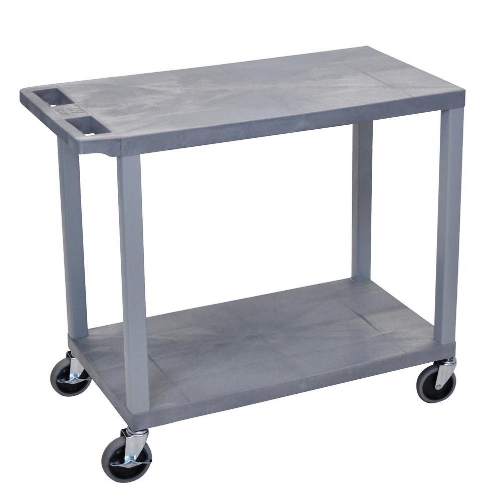 EC 32 in. 2-Shelf Utility Cart in Gray