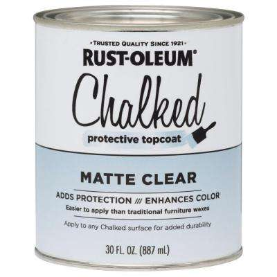 30 oz. Topcoat Clear Ultra-Matte Interior Chalked Paint