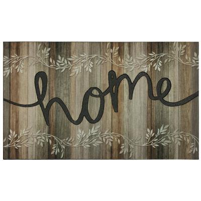 Rustic Vines 18 in. x 30 in. Recycled Rubber Door Mat