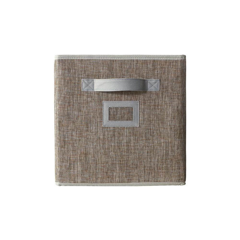 11 in. Fabric Glimmer Storage Bin in Walnut