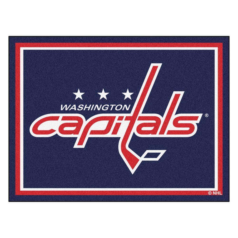 NHL Washington Capitals Navy Blue 8 ft. x 10 ft. Indoor Area Rug