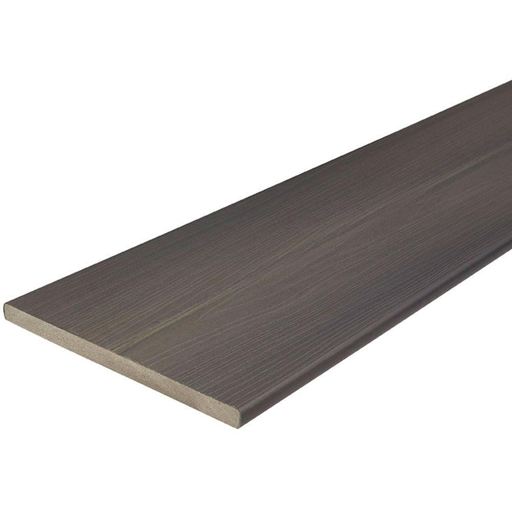 Fiberon ArmorGuard 3/4 in. x 11-1/4 in. x 8 ft. Nantucket Gray Capped Composite Fascia Decking Board