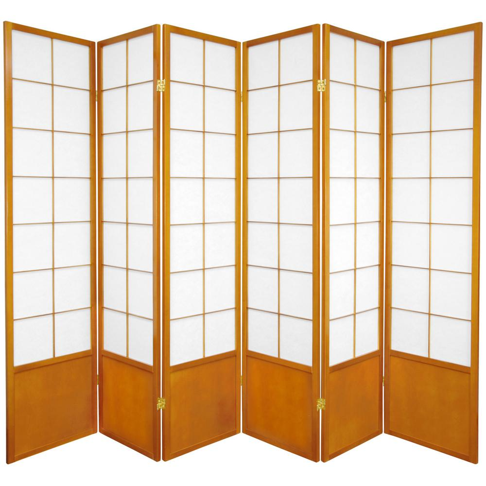 6 ft Honey 6 Panel Room Divider ZEN HON 6P The Home Depot