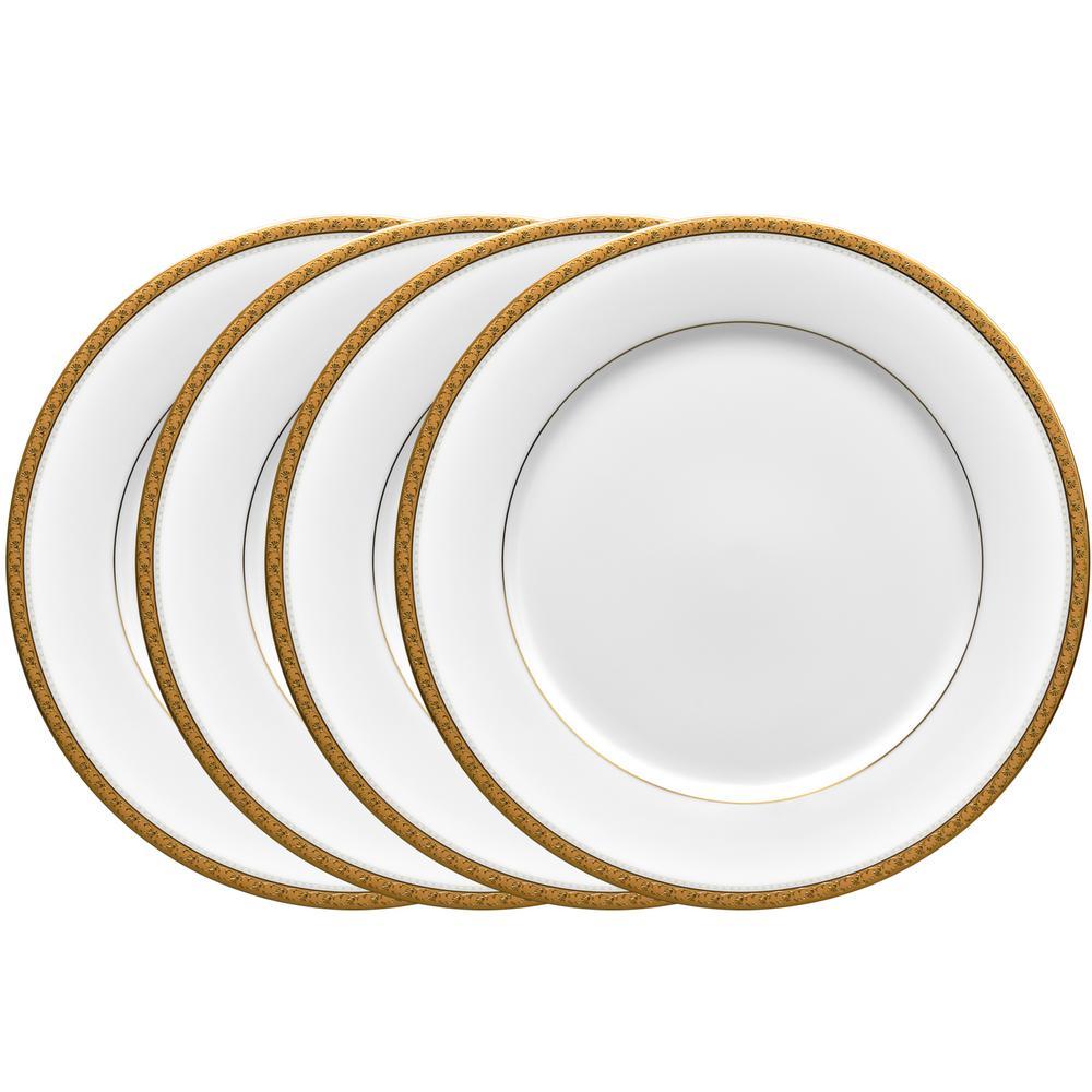 10.5 in. Charlotta Gold Dinner Plates (Set of 4)
