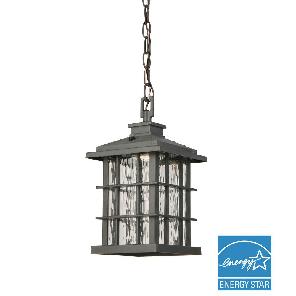hanging outdoor lights home decorators collection summit ridge collection zinc 28707