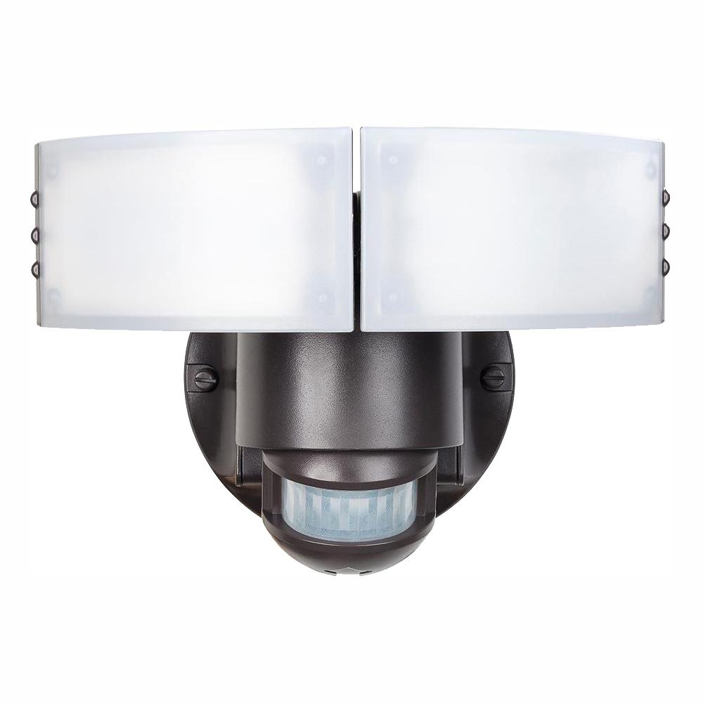 Defiant Defiant 180-Degree Bronze Motion Outdoor Integrated LED Security Light