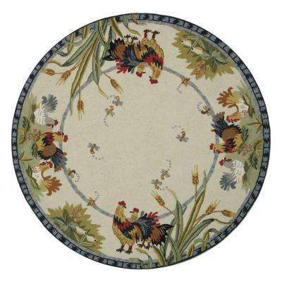 Chelsea Ivory 4 ft. x 4 ft. Round Area Rug