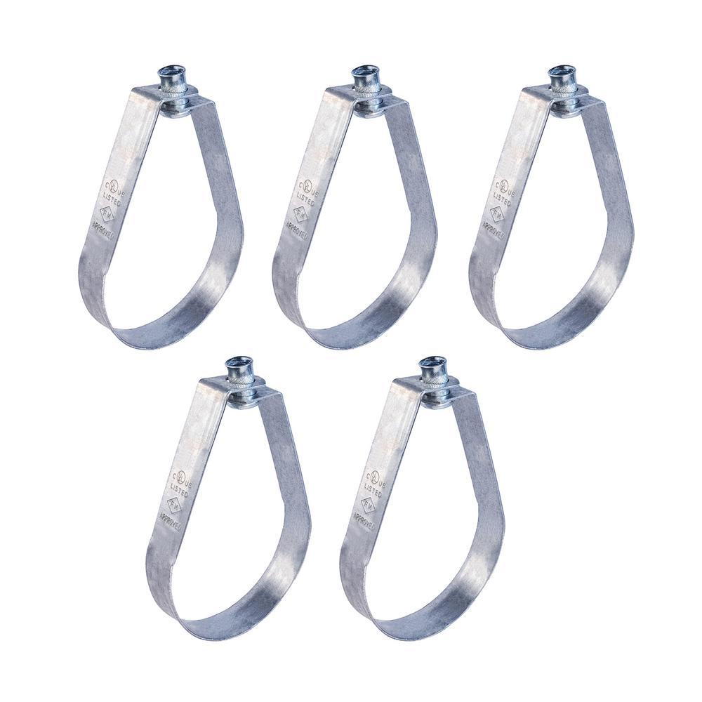 8 in. Swivel Loop Hanger for Vertical Pipe Support in Galvanized Steel (5-Pack)