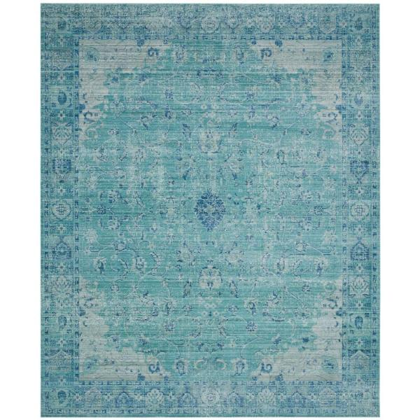 Valencia Teal/Multi 8 ft. x 10 ft. Area Rug