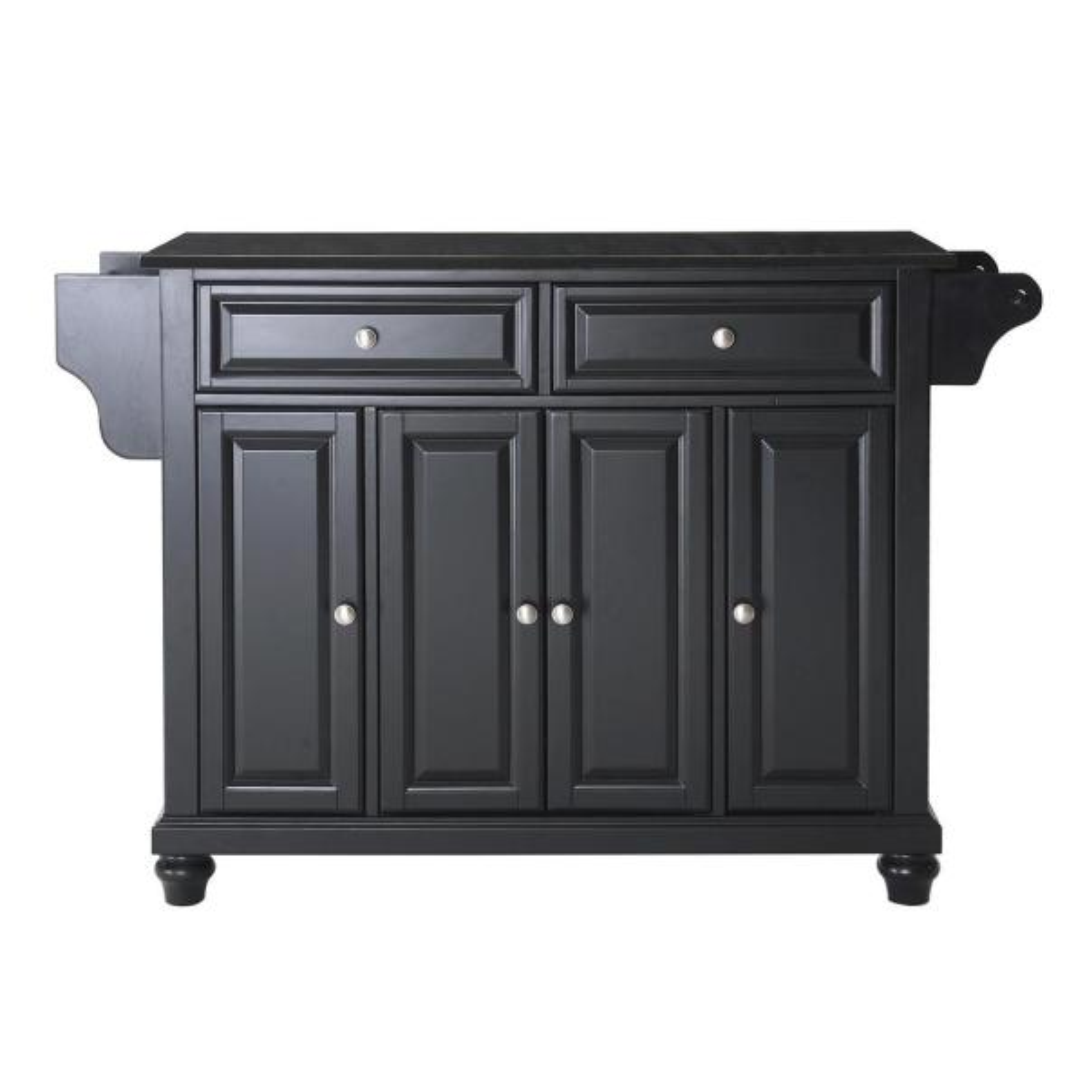 Crosley Furniture Cambridge Black Kitchen Island With Granite Top Kf30004dbk The Home Depot