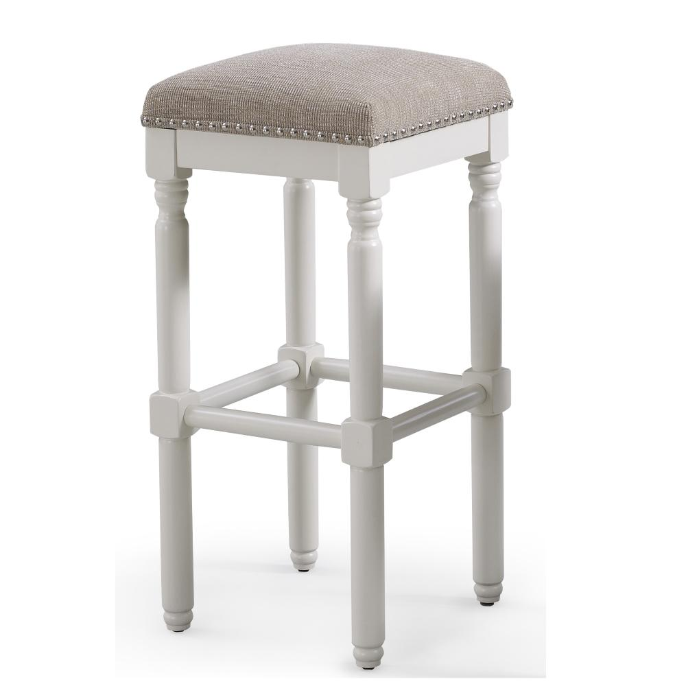 American Woodcrafters Andover 30 In White Backless Bar Stool
