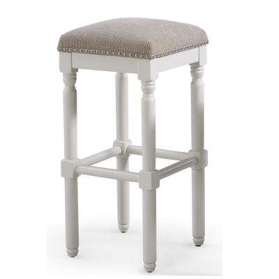 Andover 30 in. White Backless Bar Stool