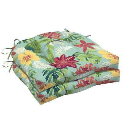20 in. x 18 in. Elea Tropical Rectangle Outdoor Seat Cushion (2-Pack)