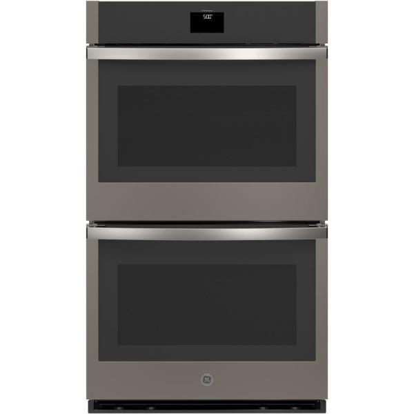 30 in. Smart Double Electric Wall Oven with Convection (Upper Oven) Self-Cleaning in Slate, Fingerprint Resistant