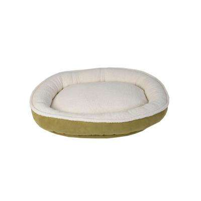 Cloud Sherpa & Faux Suede Comfy Cup Medium Willow Bed