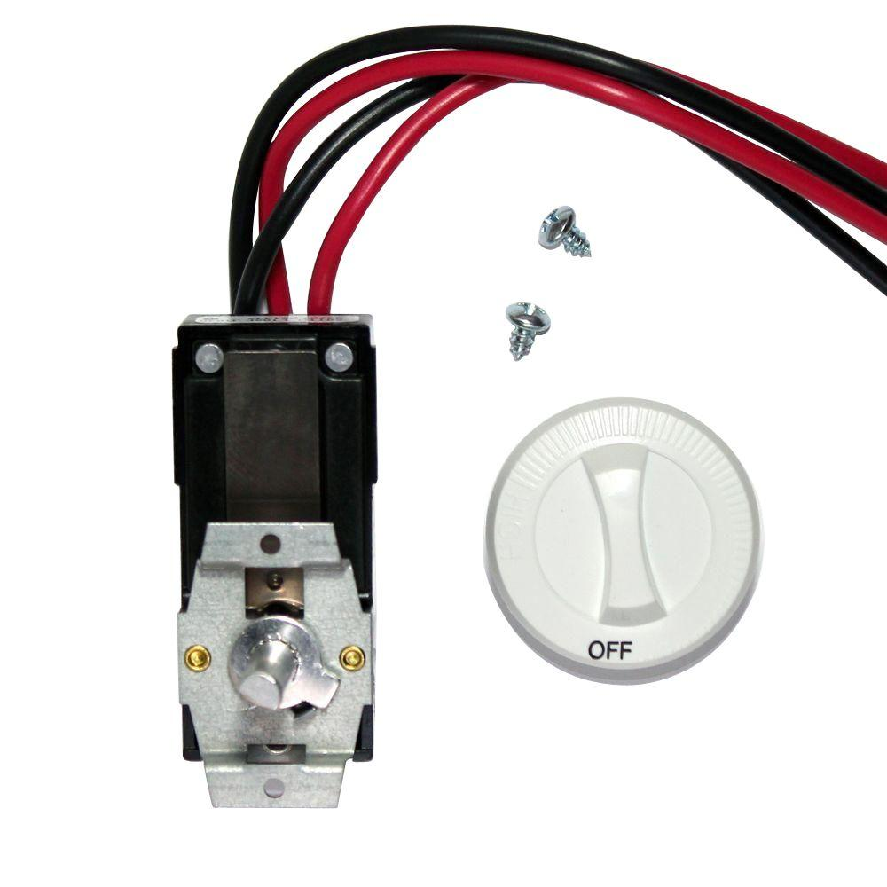 Cadet Com-Pak Series White Integral Double-Pole 22 Amp Thermostat Kit