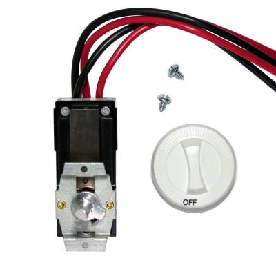 Com-Pak Series White Integral Double-Pole 22 Amp Thermostat Kit