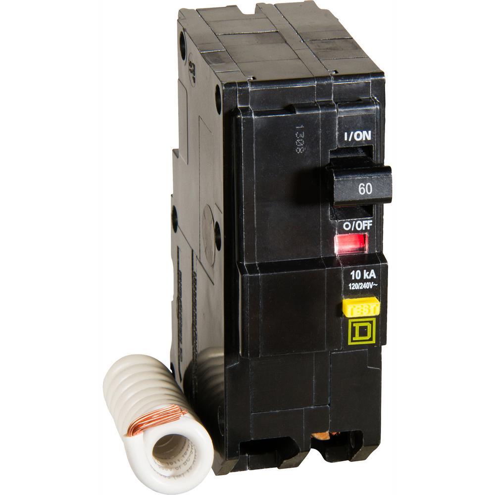 Square D Qo 60 Amp 2 Pole Gfci Breaker Qo260gficp The Home Depot