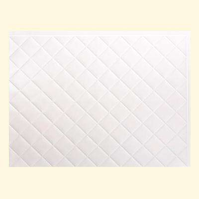 24 in. x 18 in. Quilted PVC Decorative Backsplash Panel in Gloss White