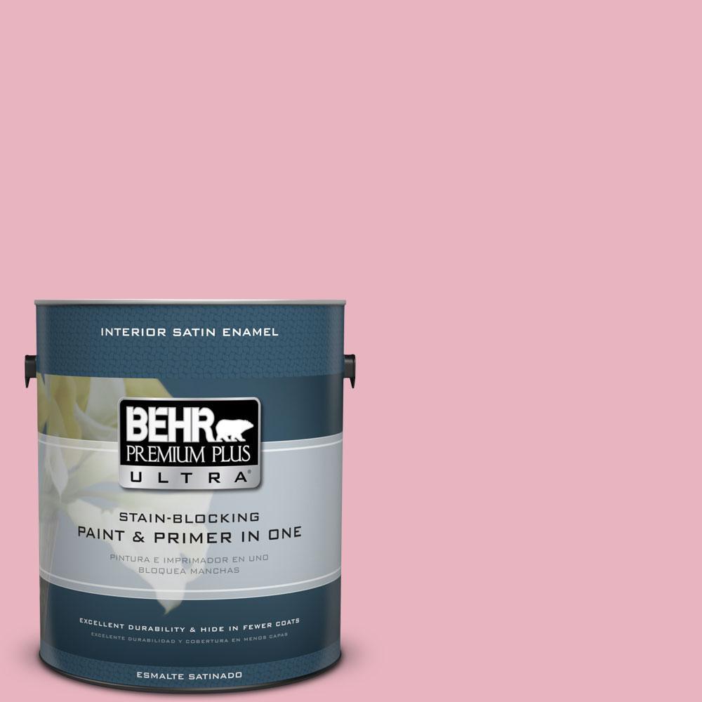 1-gal. #M140-3 Premium Pink Satin Enamel Interior Paint