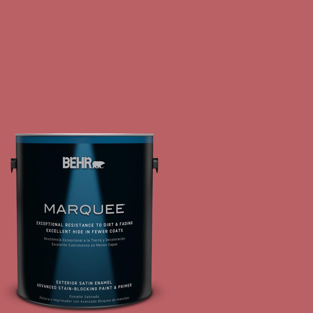 BEHR MARQUEE 1-gal. #150D-6 Strawberry Rhubarb Satin Enamel Exterior Paint